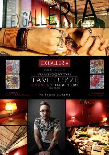 Francesco Zavattaritavolozze, poster, ex-galleria-Roma
