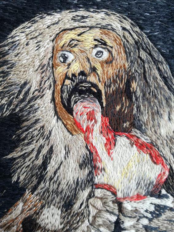 Goya, Saturno che mangia i suoi figli cupinto di Luciana Capone, particolare