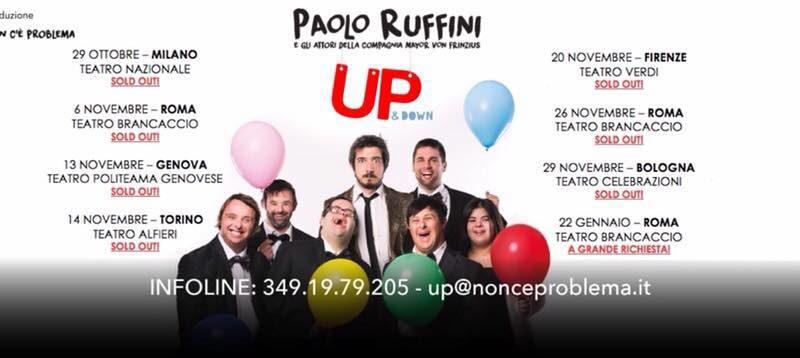 Up & Down. Paolo Ruffini a Lecce