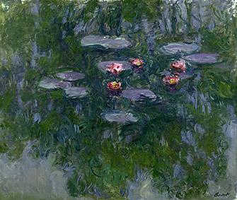 Claude Monet (1840-1926)Ninfee, 1916-1919 circaOlio su tela, 130x152 cmParigi, Musée Marmottan Monet, lascito Michel Monet, 1966Inv. 5098© Musée Marmottan Monet, Académie des beaux-arts, Paris