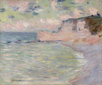 Claude Monet (1840-1926)Falesia e porta d'Amont. Effetto del mattino, 1885Olio su tela, 50x61 cmParigi, Musée Marmottan Monet, lascito Michel Monet, 1966Inv. 5010© Musée Marmottan Monet, Académie des beaux-arts, Paris