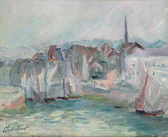 Claude Monet (1840-1926)Barche nel porto di Honfleur, 1917Olio su tela, 50x61 cmParigi, Musée Marmottan Monet, lascito Michel Monet, 1966Inv. 5022© Musée Marmottan Monet, Académie des beaux-arts, Paris