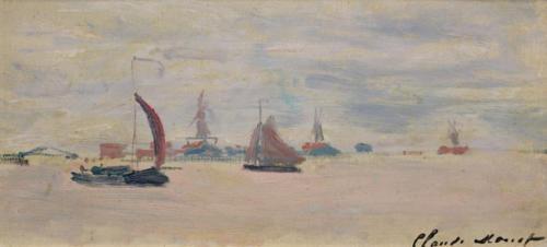 Claude Monet (1840-1926)Veduta della Voorzaan, 1871Olio su tela, 18x38 cmParigi, Musée Marmottan Monet, lascito Roger Hauser, 1990Inv. 5239© Musée Marmottan Monet, Académie des beaux-arts, Paris