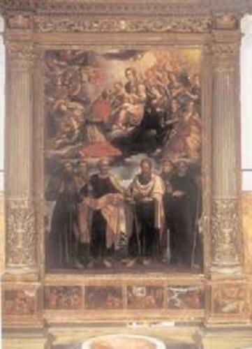 Giovanni Donato Oppido, Glorificazione di San Carlo Borromeo, 1627, già Cattedrale di Matera (foto tratta da old.consiglio.basilicata.it)