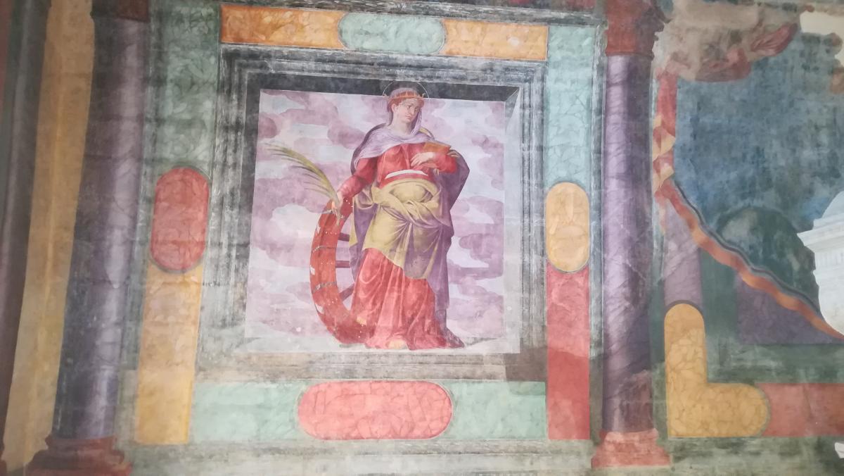 castello di Copertino particolare affresco cappella San Marco